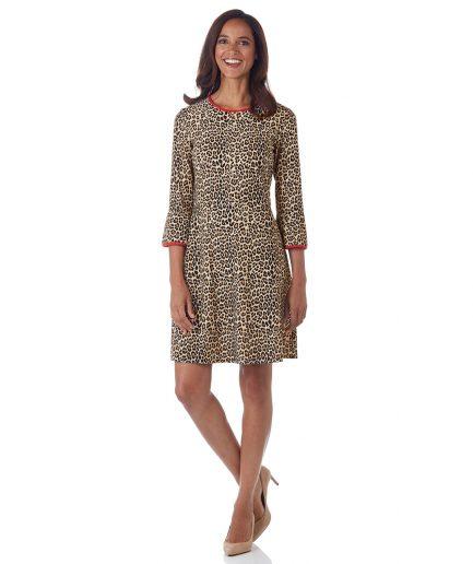 Talia Dress Jude Cloth - Mini Leopard - Aspen Elk City